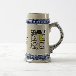 Caneca De Cerveja Sysadmin - administrador de sistema