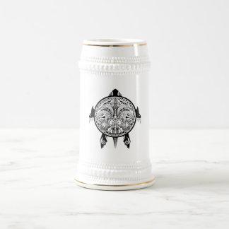 Caneca De Cerveja Tatuagem tribal do protetor da tartaruga