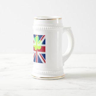 Caneca De Cerveja Trevo britânico irlandês St Patrick Reino Unido do