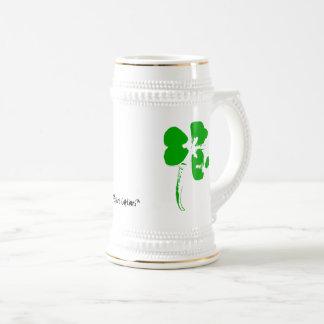 Caneca De Cerveja Trevo do verde do dia de St Patrick - copo da