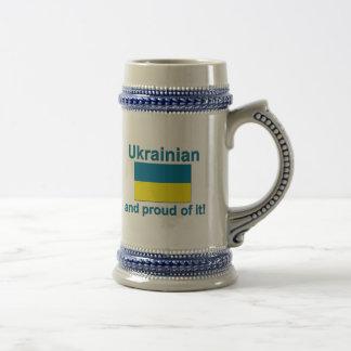 Caneca De Cerveja Ucraniano orgulhoso