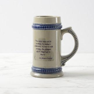 Caneca De Cerveja Uísque e Churchill