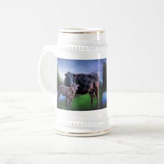 Caneca De Cerveja Vaca e vitela pretas de Angus