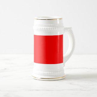 Caneca De Cerveja Vermelho brilhante colorido da Web do código do
