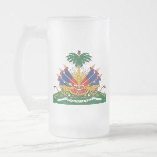 Caneca De Cerveja Vidro Jateado A brasão de Haiti