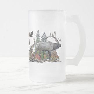 Caneca De Cerveja Vidro Jateado Animais selvagens de America do Norte