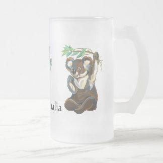 Caneca De Cerveja Vidro Jateado animais selvagens de Austrália