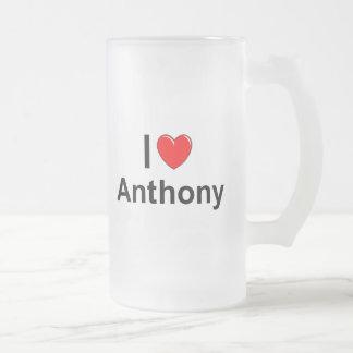 Caneca De Cerveja Vidro Jateado Anthony