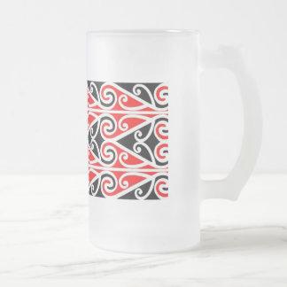 Caneca De Cerveja Vidro Jateado arte tribal do design maori para você