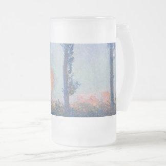 Caneca De Cerveja Vidro Jateado As quatro árvores por Claude Monet
