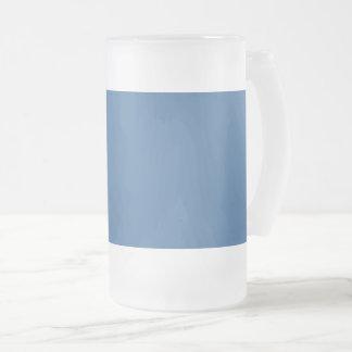 Caneca De Cerveja Vidro Jateado Azul da cor da Web do código do Hex #336699