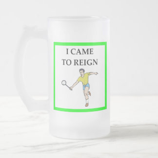 Caneca De Cerveja Vidro Jateado badminton