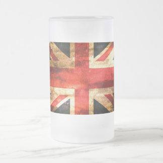 Caneca De Cerveja Vidro Jateado Bandeira britânica clássica