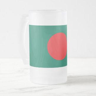 Caneca De Cerveja Vidro Jateado Bandeira de Bangladesh
