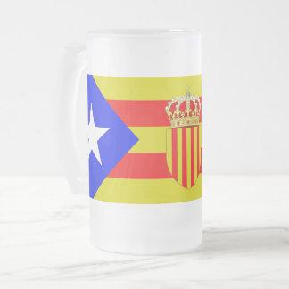 Caneca De Cerveja Vidro Jateado Bandeira de Catalonia