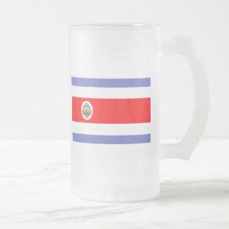 Caneca De Cerveja Vidro Jateado Bandeira de Costa Rica