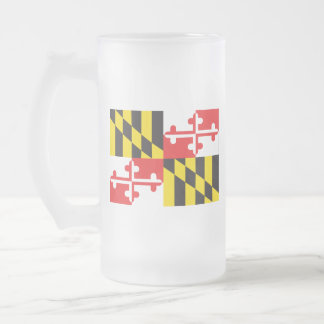 Caneca De Cerveja Vidro Jateado Bandeira de Maryland