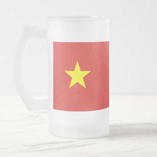 Caneca De Cerveja Vidro Jateado Bandeira de Vietnam