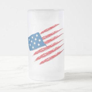 Caneca De Cerveja Vidro Jateado Bandeira dos EUA