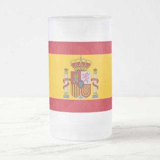 Caneca De Cerveja Vidro Jateado Bandeira espanhola