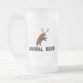 Caneca De Cerveja Vidro Jateado Cerveja animal