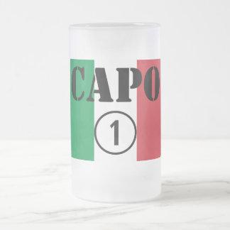 Caneca De Cerveja Vidro Jateado Chefes italianos: ONU de Numero do Capo