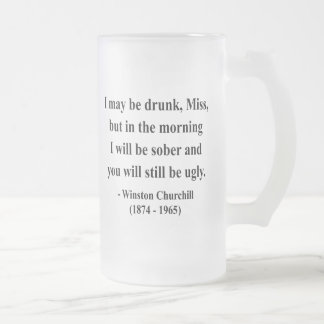 Caneca De Cerveja Vidro Jateado Citações 2a de Winston Churchill