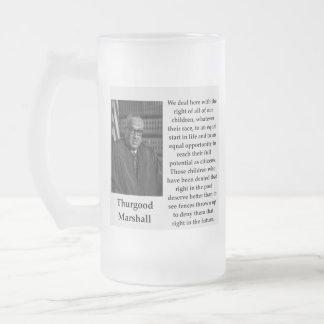 Caneca De Cerveja Vidro Jateado Citações de Thurgood Marshall
