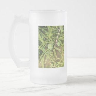 Caneca De Cerveja Vidro Jateado Cone da semente de Cypress calvo