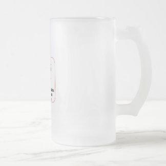 Caneca De Cerveja Vidro Jateado Criações da cultura do café