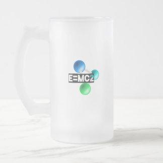 Caneca De Cerveja Vidro Jateado E=mc2