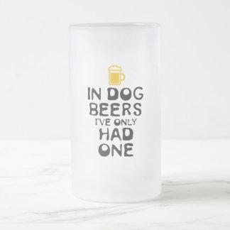 Caneca De Cerveja Vidro Jateado Em cervejas do cão, eu tive somente um