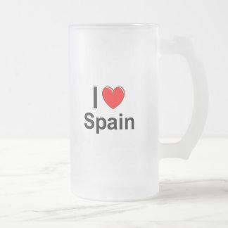 Caneca De Cerveja Vidro Jateado Espanha