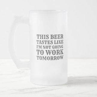 Caneca De Cerveja Vidro Jateado Esta cerveja prova o gosto