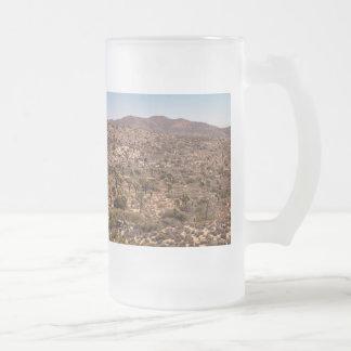 Caneca De Cerveja Vidro Jateado Estrada só do deserto da árvore de Joshua