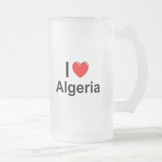 Caneca De Cerveja Vidro Jateado Eu amo o coração Argélia