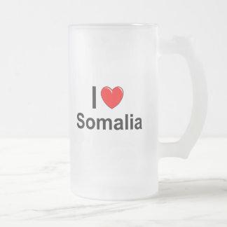 Caneca De Cerveja Vidro Jateado Eu amo o coração Somália