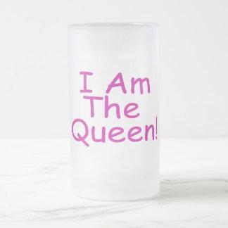 Caneca De Cerveja Vidro Jateado Eu sou a rainha
