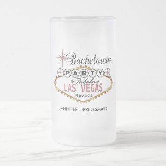 Caneca De Cerveja Vidro Jateado Festa de solteira em Las Vegas - empoeirado
