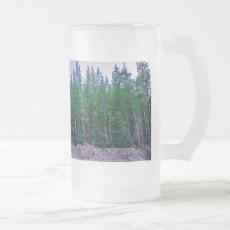 Caneca De Cerveja Vidro Jateado Floresta & céu do vale de Yosemite