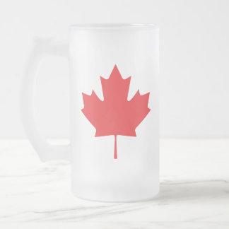 Caneca De Cerveja Vidro Jateado Folha de bordo canadense