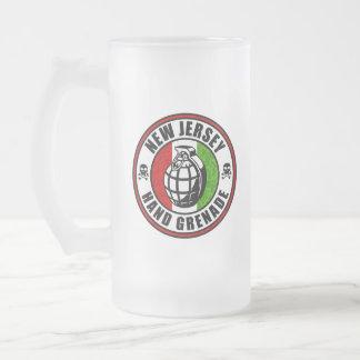 Caneca De Cerveja Vidro Jateado Granada de mão de New-jersey