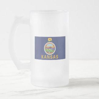 Caneca De Cerveja Vidro Jateado Kansas