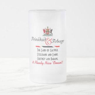 Caneca De Cerveja Vidro Jateado Lembrança de Trinidad & de Tobago