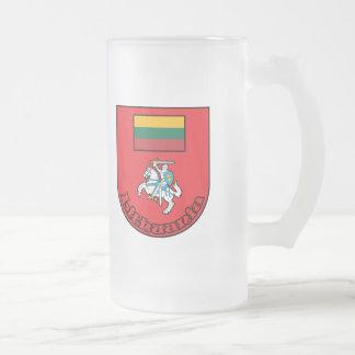 Caneca De Cerveja Vidro Jateado Lithuania