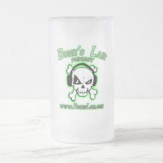 Caneca De Cerveja Vidro Jateado Logotipo da toca do osso