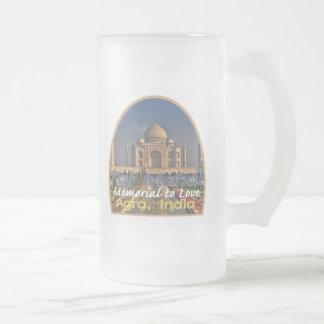 Caneca De Cerveja Vidro Jateado MAHAL India de TAJ