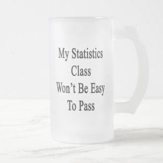 Caneca De Cerveja Vidro Jateado Minha classe das estatísticas não será fácil de