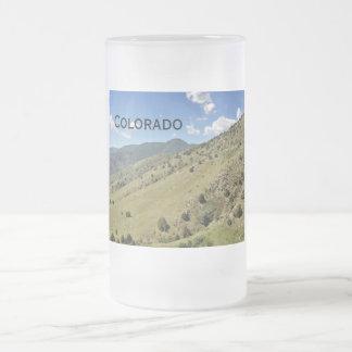 Caneca De Cerveja Vidro Jateado montanhas em Morrison Colorado