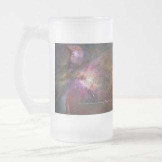 Caneca De Cerveja Vidro Jateado Nebulosa de Orion